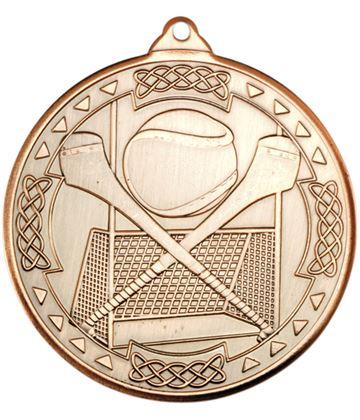 "Bronze Hurling Celtic Medal 50mm (2"")"