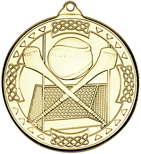 "Gold Hurling Celtic Medal 50mm (2"")"