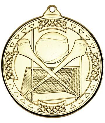 "Gold Hurling Celtic Medal 50mm (2"")"