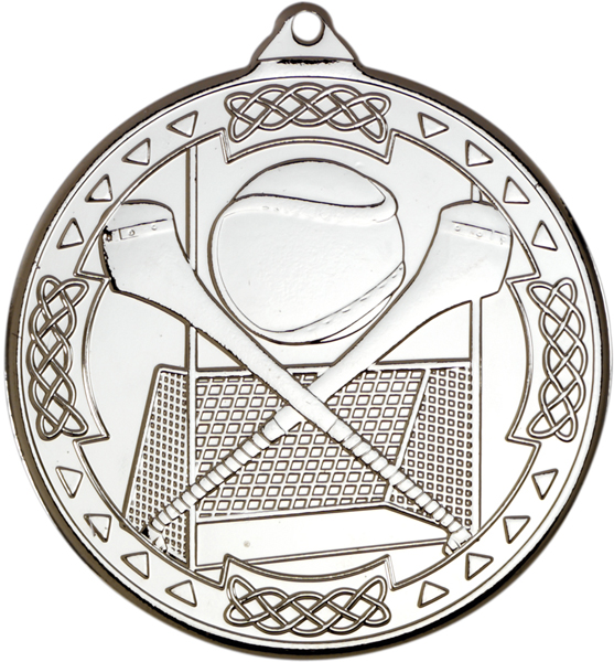 "Silver Hurling Celtic Medal 50mm (2"")"