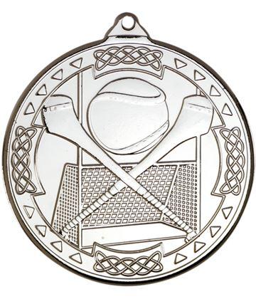 "Silver Hurling Celtic Medal 50mm (2"")"