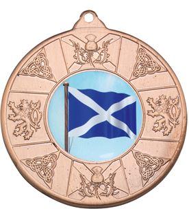 """Bronze Scottish Patterned Medal 50mm (2"""")"""
