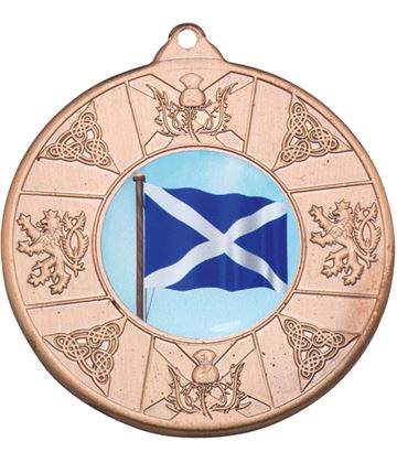 "Bronze Scottish Patterned Medal 50mm (2"")"