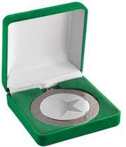 Deluxe Green Velvet Lined Medal Box 50, 60 or 70mm Recess