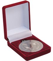 Deluxe Red Velvet Lined Medal Box 40mm or 50mm Recess