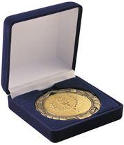 Deluxe Blue Velvet Lined Medal Box 50, 60 or 70mm Recess