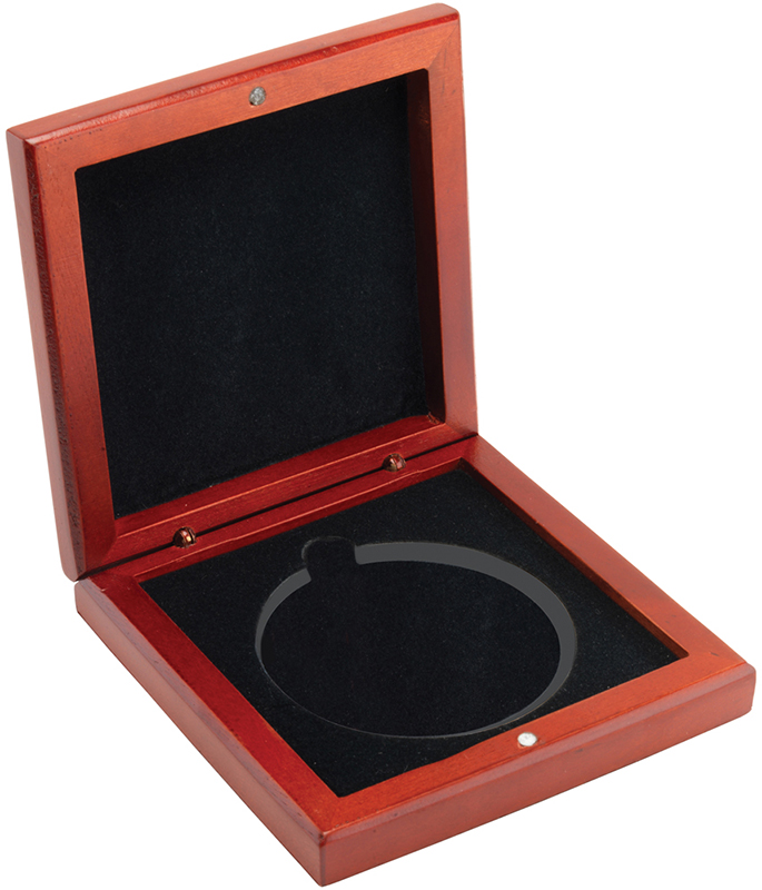 """Rosewood Medal Box for 60mm Medals 9.50mm (3.75"""")"""