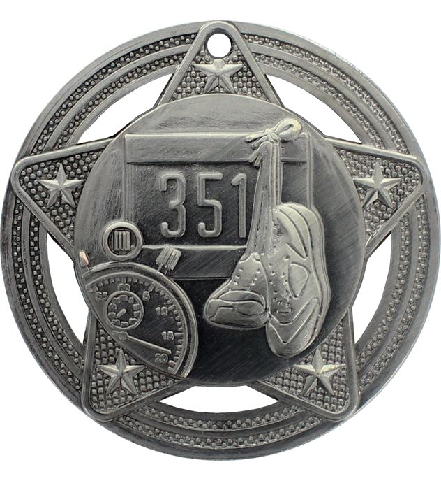 """Athletics Medal by Infinity Stars Antique Silver 50mm (2"""")"""