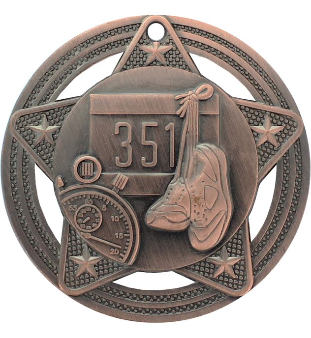 """Athletics Medal by Infinity Stars Antique Bronze 50mm (2"""")"""