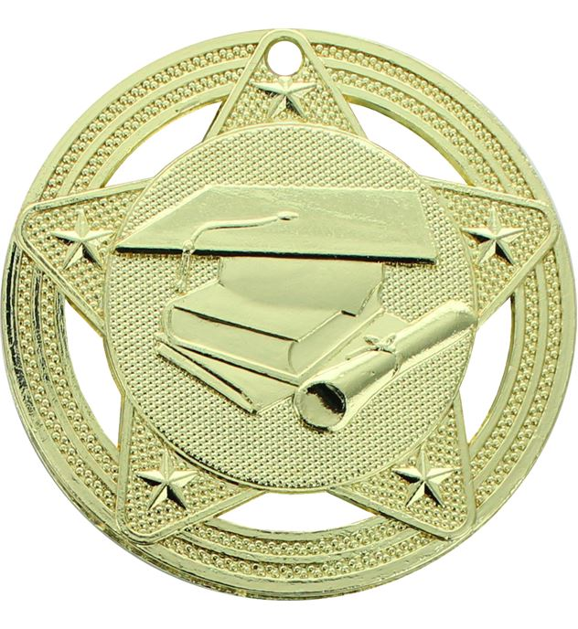 "Academic Medal by Infinity Stars Gold 50mm (2"")"