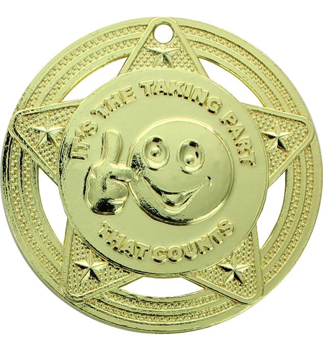 "Participation Medal by Infinity Stars Gold 50mm (2"")"