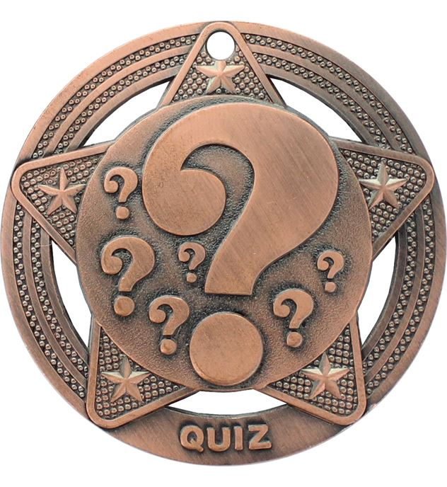"Quiz Medal by Infinity Stars Antique Bronze 50mm (2"")"