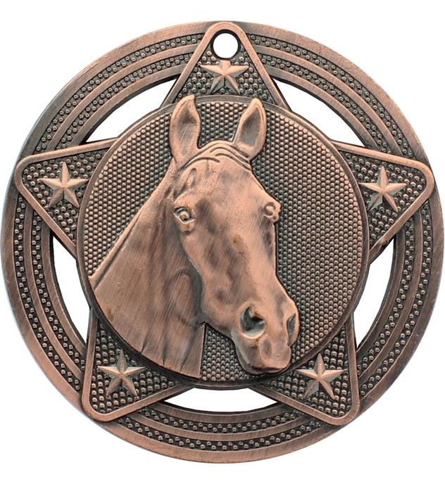 """Equestrian Medal by Infinity Stars Antique Bronze 50mm (2"""")"""