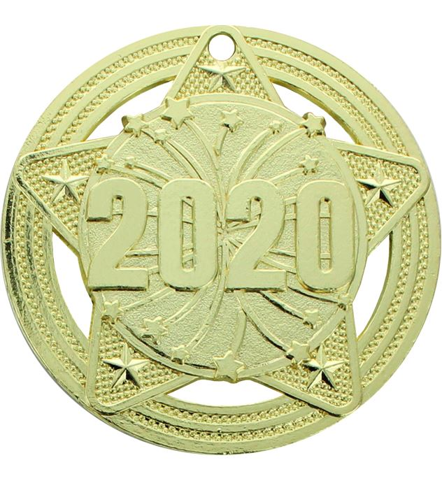 """2020 Medal by Infinity Stars Gold 50mm (2"""")"""