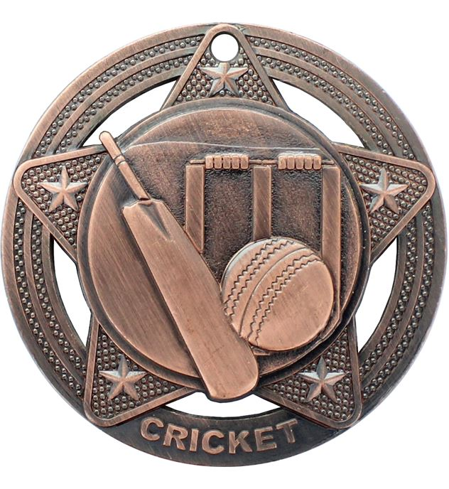 """Cricket Medal by Infinity Stars Antique Bronze 50mm (2"""")"""