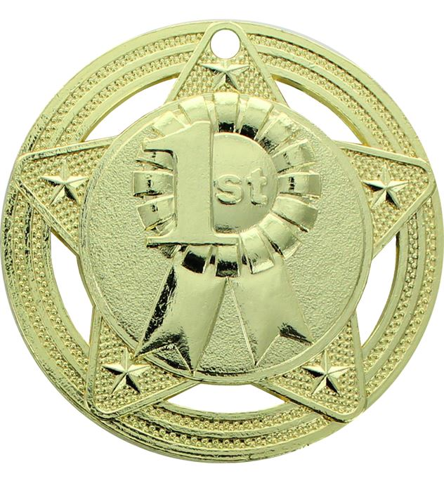 "1st Place Medal by Infinity Stars Gold 50mm (2"")"