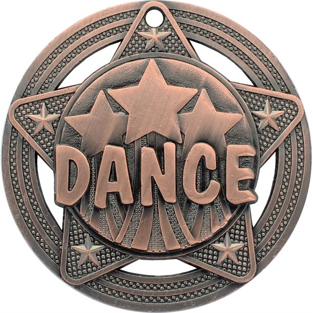 "Dance Medal by Infinity Stars Antique Bronze 50mm (2"")"