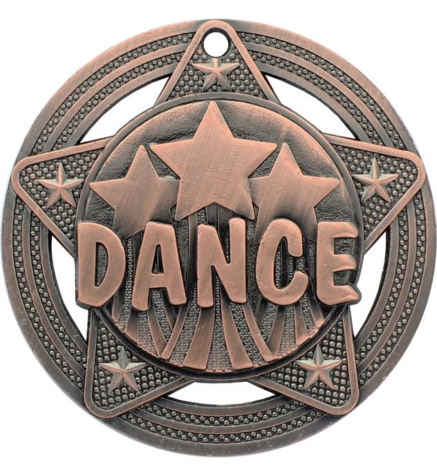 """Dance Medal by Infinity Stars Antique Bronze 50mm (2"""")"""