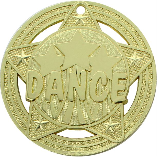 "Dance Medal by Infinity Stars Gold 50mm (2"")"