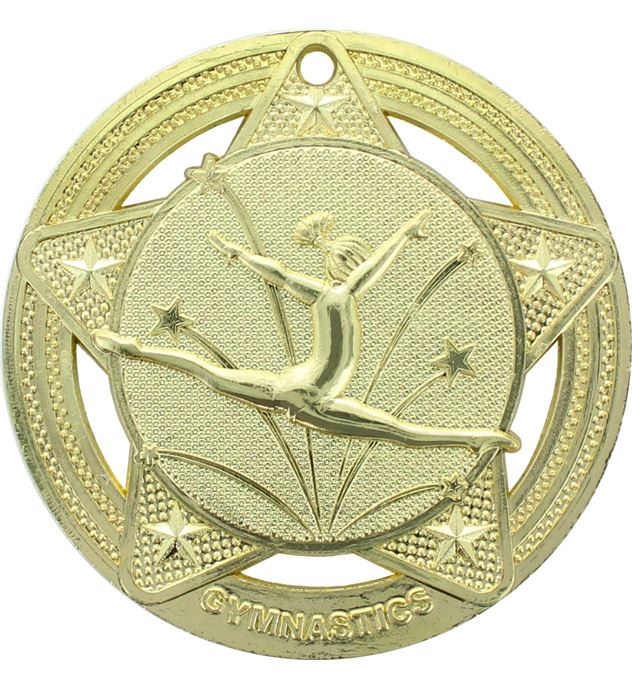 "Female Gymnastics Medal by Infinity Stars Gold 50mm (2"")"