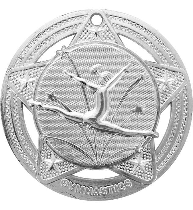 "Female Gymnastics Medal by Infinity Stars Silver 50mm (2"")"