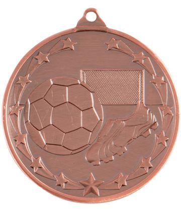"""Starboot Economy Football Medal Bronze 50mm (2"""")"""