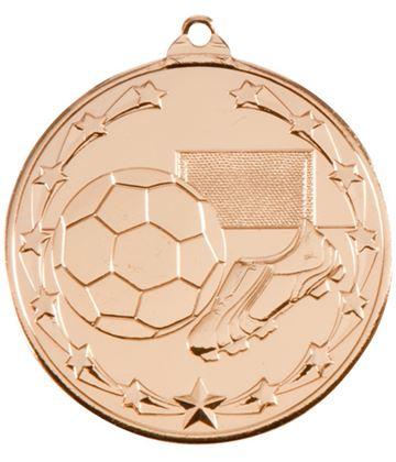 """Starboot Economy Football Medal Gold 50mm (2"""")"""