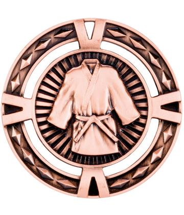 "Bronze Diamond Pattern Martial Arts Medal 60mm (2.25"")"