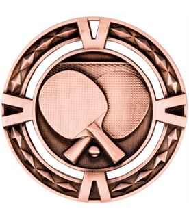 "Bronze Diamond Pattern Table Tennis Medal 60mm (2.25"")"