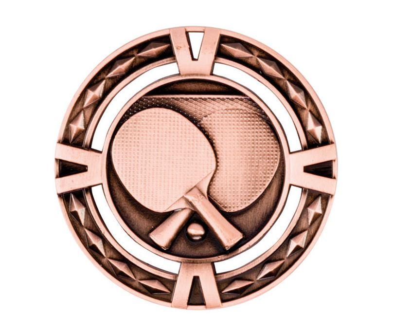 "Bronze Diamond Pattern Table Tennis Medal 60mm (2.25"")"