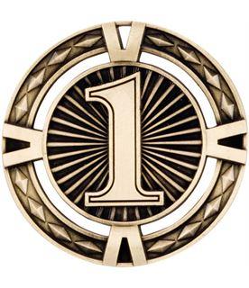 "Gold Diamond Pattern 1st Place Medal 60mm (2.25"")"