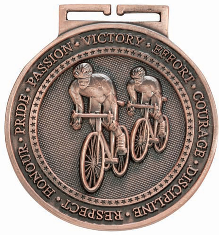 """Olympia Cycling Medal Bronze 60mm (2.25"""")"""