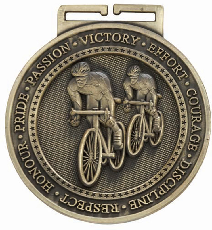 """Olympia Cycling Medal Gold 60mm (2.25"""")"""