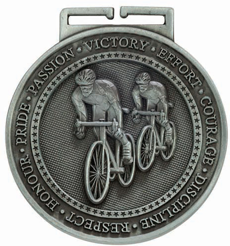 """Olympia Cycling Medal Silver 60mm (2.25"""")"""