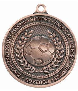 "Olympia Football Bronze Medal 60mm (2.25"")"