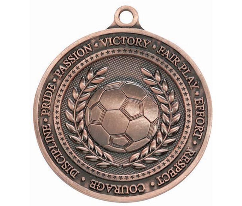 """Olympia Football Bronze Medal 60mm (2.25"""")"""