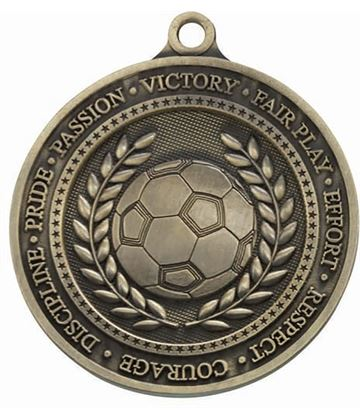 "Olympia Football Gold Medal 60mm (2.25"")"