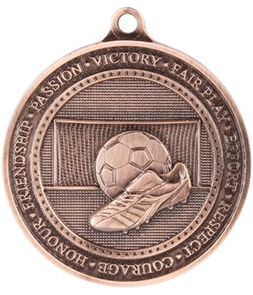 "Antique Bronze Olympia Football Medal 70mm (2.75"")"