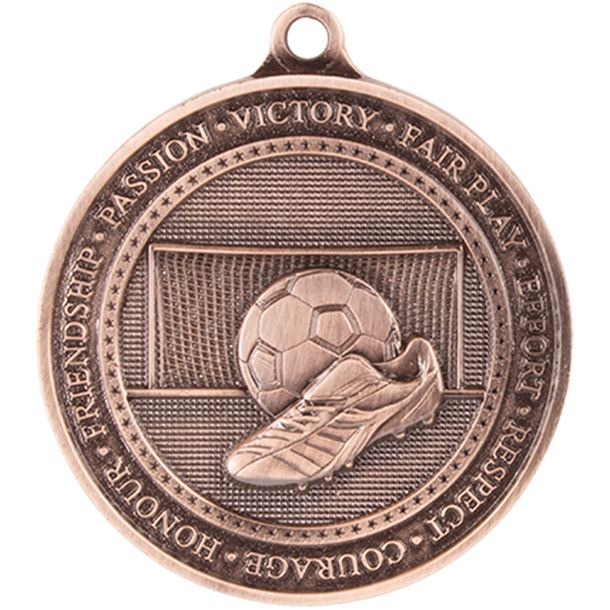 """Antique Bronze Olympia Football Medal 70mm (2.75"""")"""