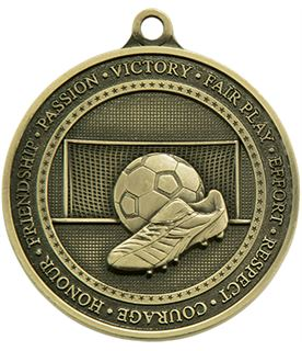 "Antique Gold Olympia Football Medal 70mm (2.75"")"