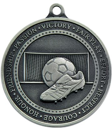 "Antique Silver Olympia Football Medal 70mm (2.75"")"
