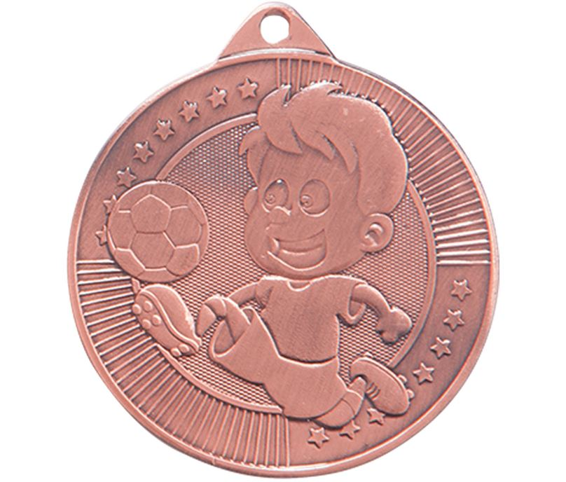 "Little Champion Bronze Football Medal 45mm (1.75"")"