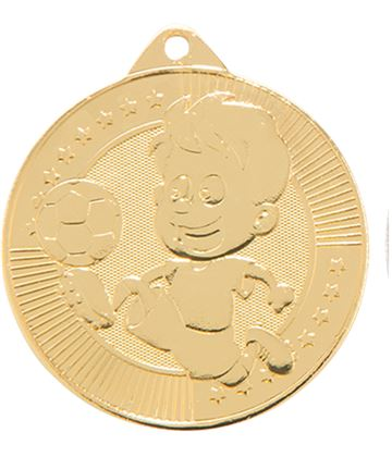 "Little Champion Gold Football Medal 45mm (1.75"")"