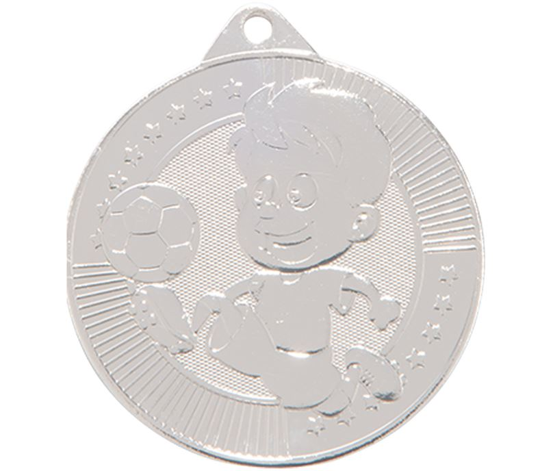"Little Champion Silver Football Medal 45mm (1.75"")"