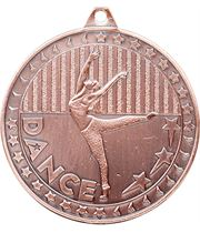 "Bronze Discovery Dance Medal 50mm (2"")"