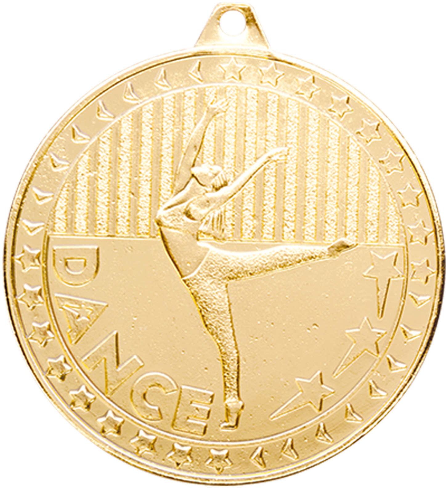 "Gold Discovery Dance Medal 50mm (2"")"