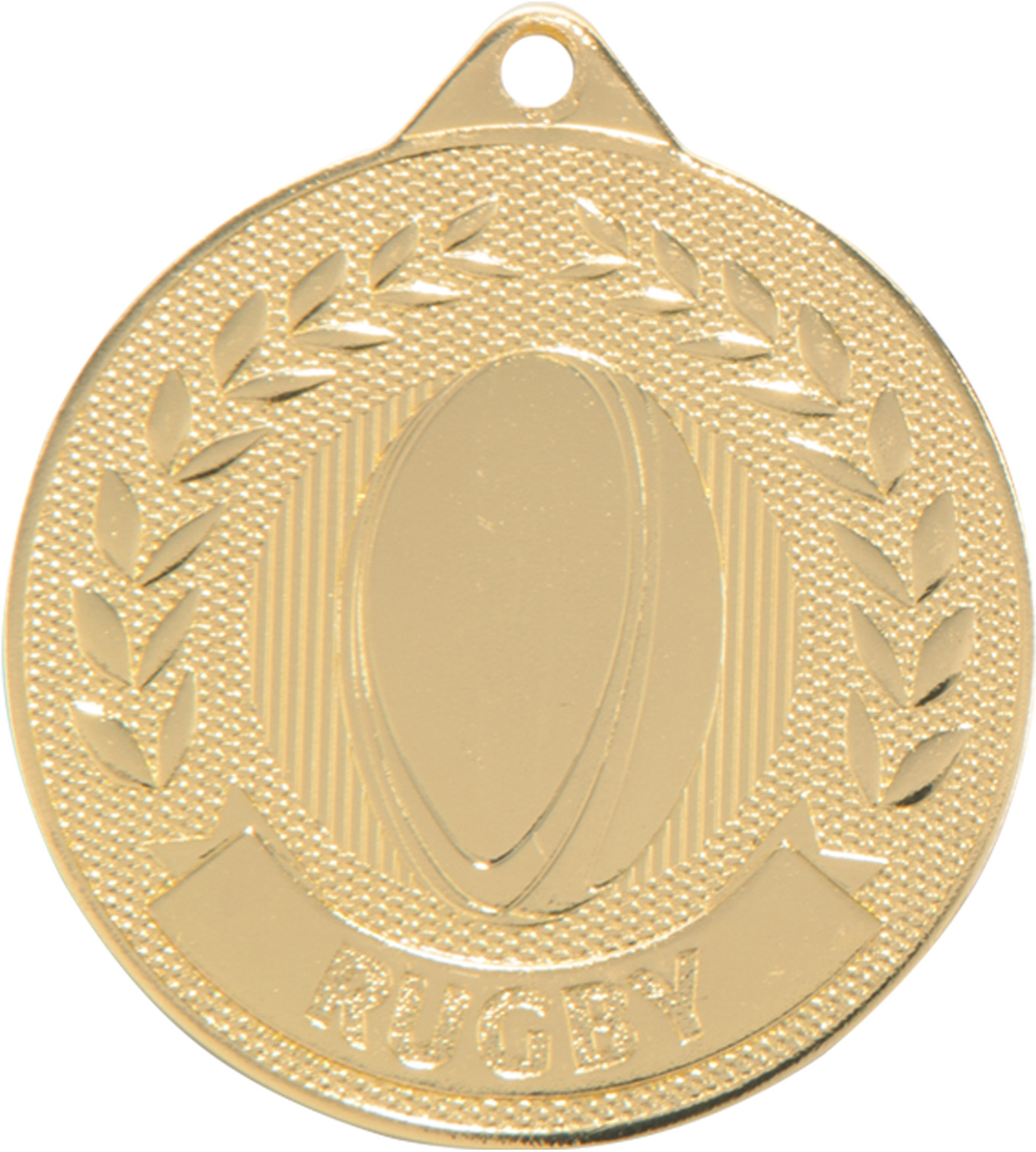 """Gold Discovery Rugby Medal 5cm (2"""")"""