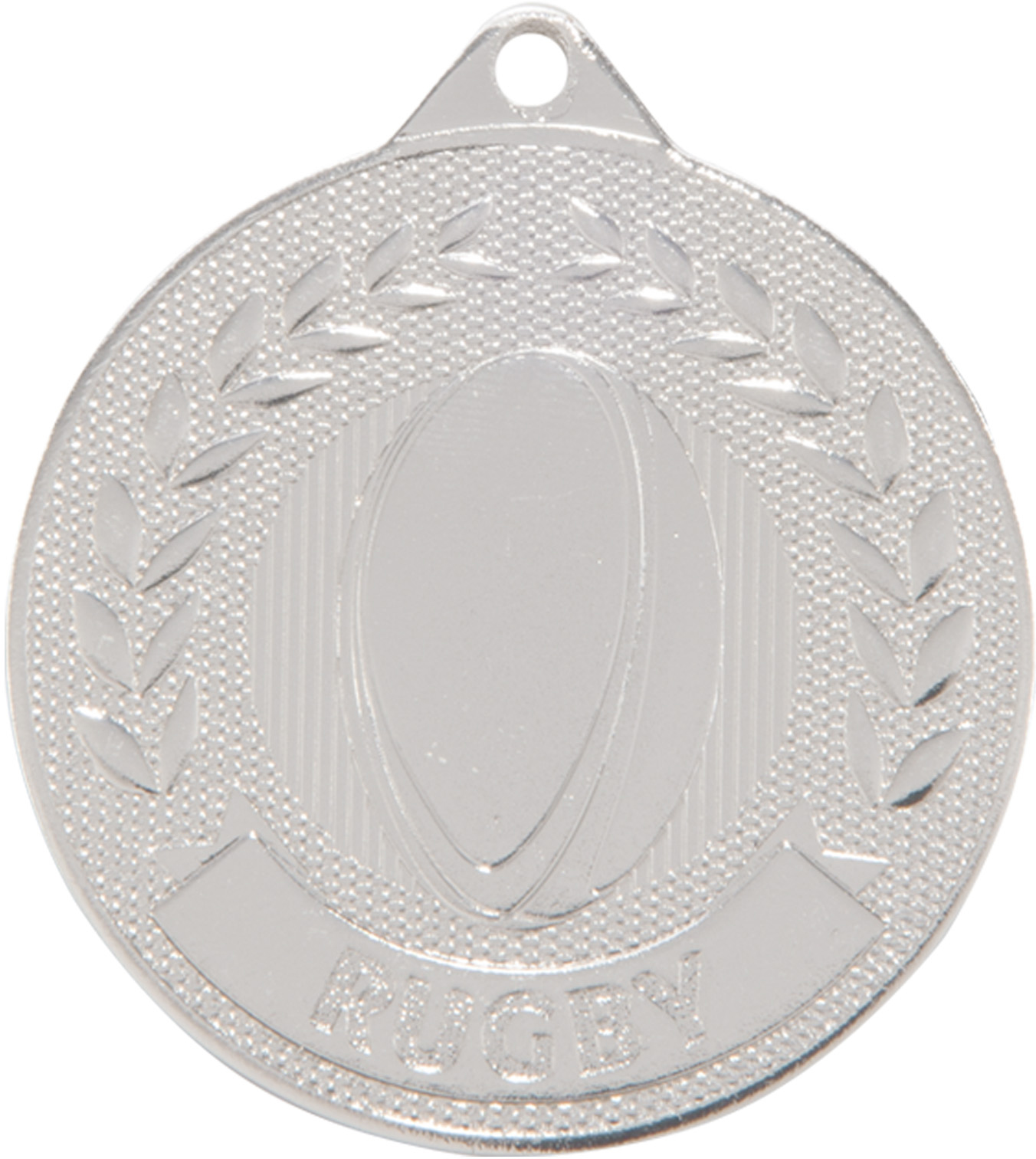 """Silver Discovery Rugby Medal 5cm (2"""")"""