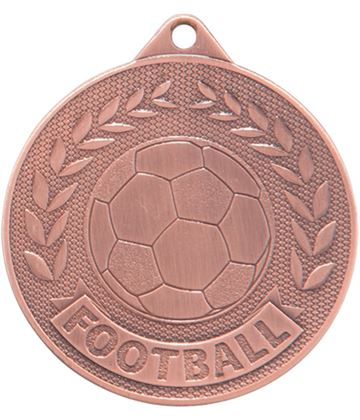 "Bronze Discovery Football Medal 50mm (2"")"