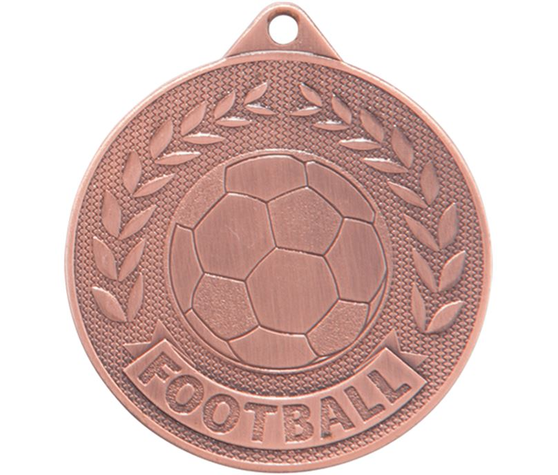 """Bronze Discovery Football Medal 50mm (2"""")"""